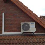 Klima Außengerät am Dach