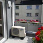Klimagerät auf dem Balkon